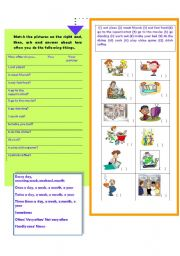 English Worksheets: How often do you...? Frequency Adverbs- Speaking Worksheet