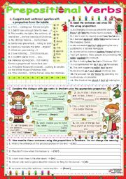 English Worksheets: Common Verbs followed by Prepositions