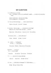 English Worksheets: multiple question test for revision