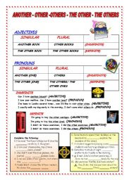 English Worksheet: ANOTHER - OTHER - OTHERS - THE OTHER - THE OTHERS