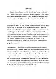 English Worksheets: Mixtures