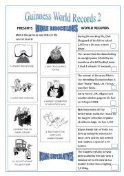 English Worksheets: World Records: SUPERLATIVES 2