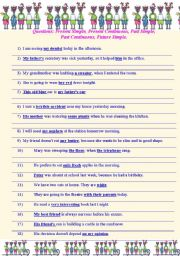 English worksheets: past continuous worksheets, page 145