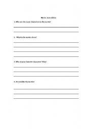 English Worksheets: Movie handout