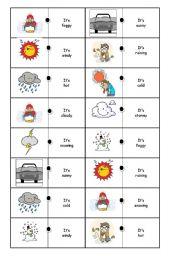weather domino part 1 esl worksheet by maria augusta. Black Bedroom Furniture Sets. Home Design Ideas