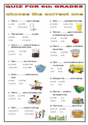 English worksheet: Quantifier....