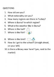 English Worksheets: mixed questions