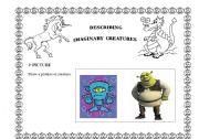 English Worksheets: describing imaginary creatures