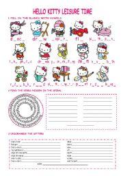 Hello Kitty leisure verbs