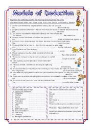 English Worksheets: Modals of Deductions - exercises