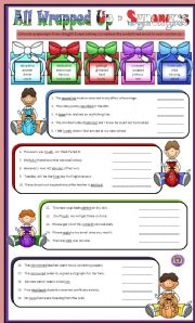 Synonyms  & Antonyms - All Wrapped Up