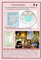 English Worksheet: Fun Christmas activities as warmers.