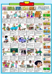 English Worksheet: POSSESSIVE ADJECTIVES AND PRONOUNS (B&W VERSION+KEY INCLUDED)