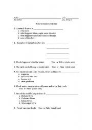 English worksheet: Natural Disaster- Tornadoes