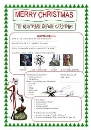 English Worksheets: The Nightmare before christmas (