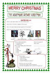 English Worksheet: The Nightmare before christmas (
