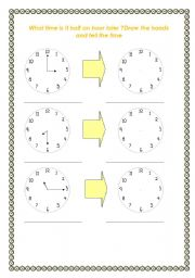 english teaching worksheets the hours. Black Bedroom Furniture Sets. Home Design Ideas