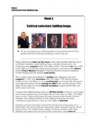 English Worksheets: Caricature: Spitting Image 1