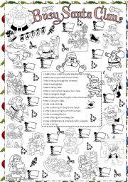 English Worksheet: busy Santa Claus