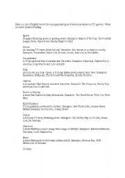 English Worksheets: TV programs