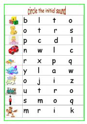 Worksheets Initial Sound Worksheets english teaching worksheets initial sounds circle the sound