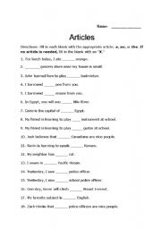 articles worksheet esl worksheet by lordblackmoon. Black Bedroom Furniture Sets. Home Design Ideas