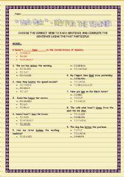 English worksheet: Verb Quiz