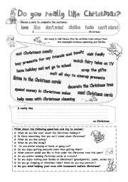 Talk about Christmas  Gerund after verbs