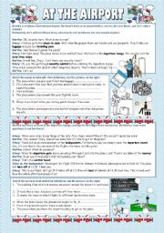 English Worksheets: at the airport (2 pages)
