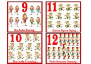 English Worksheet: 12 DAYS OF CHRISTMAS