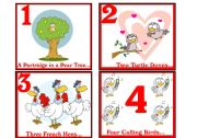 English Worksheets: 12 DAYS OF CHRISTMAS