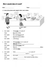 English Worksheets: How much is it