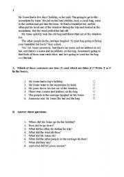 English reading exercises
