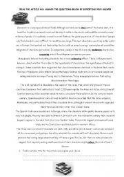English Worksheet: article reading finding title topic main idea