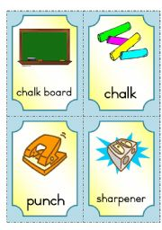 English Worksheet: At school - flashcards part 2