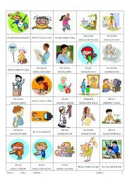English Worksheet: Participles ( -ing version) 1