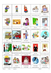 English Worksheets: Participles (-ing version) 2