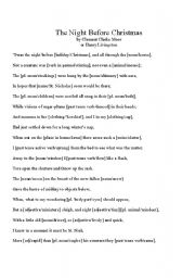 graphic regarding Twas the Night Before Christmas Printable called English worksheets: \