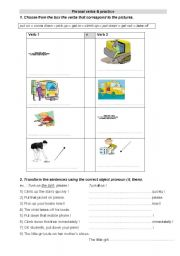English worksheet: phrasal verbs