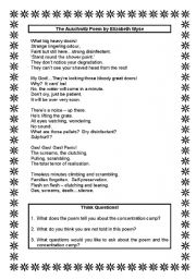 english worksheets auschwitz poem by elizabeth wyse. Black Bedroom Furniture Sets. Home Design Ideas