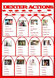 English Worksheets: Dexter Actions