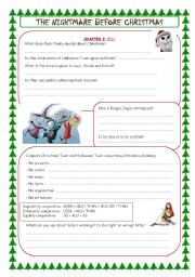 English Worksheets: the nightmare before christmas (chapter 3)