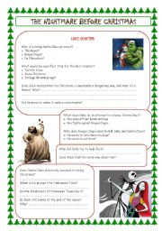 English Worksheets: the nightmare before christmas (last chapter)