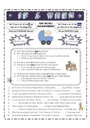 English Worksheets: IF or WHEN