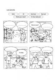 English Worksheets: Complete the ballon