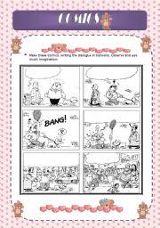 English Worksheets: Writing: Comics1 (Editable)