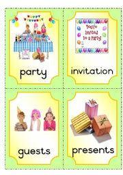 English Worksheet: Party flashcards