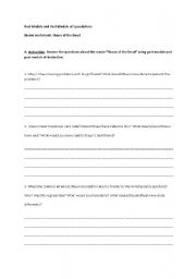 English Worksheet: Shaun of the Dead Past Modals and Past Modals of Deduction
