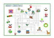English Worksheet: Christmas crossword
