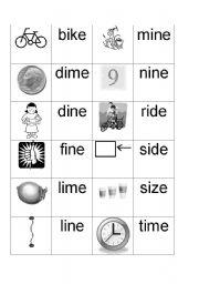 English Worksheets: Long i sound